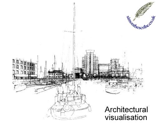 image architecture line art