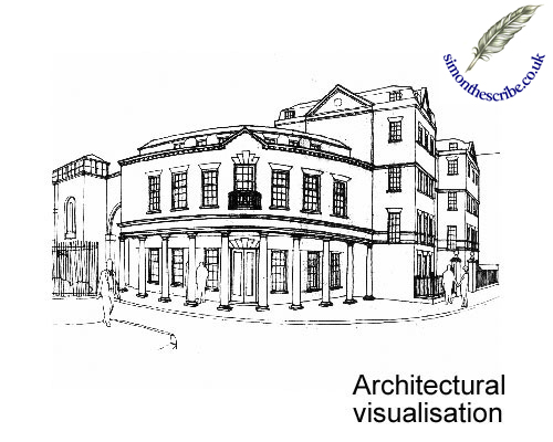 image of architecture line art