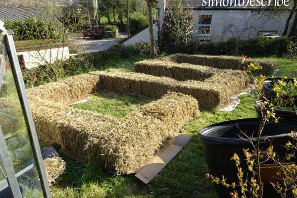 strawbale garden layout